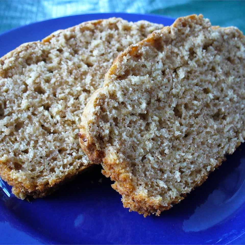 Oatmeal isn't just good for eating by the bowlful for breakfast. Stir it into this honey whole-wheat bread for a heartier texture and a healthy fiber boost. Baking powder, milk, salt, and oil round out the easy no-yeast bread recipe ingredient line-up.