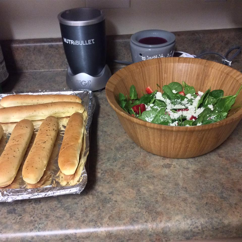 Spinach and Strawberry Salad with Feta Cheese Sckerra J Gonzalez