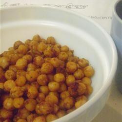 Indian-Spiced Roasted Chickpeas shamsa khan