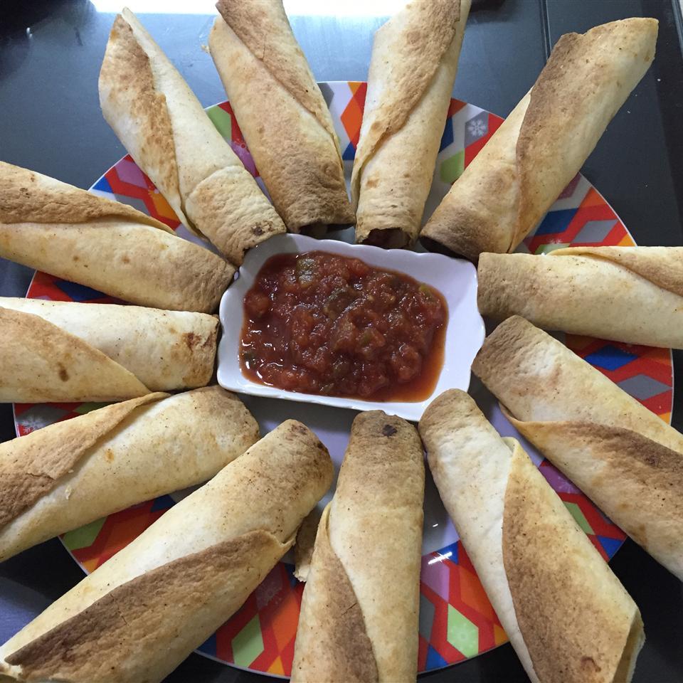 Baked Chipotle Chicken Flautas Mariel Yabut