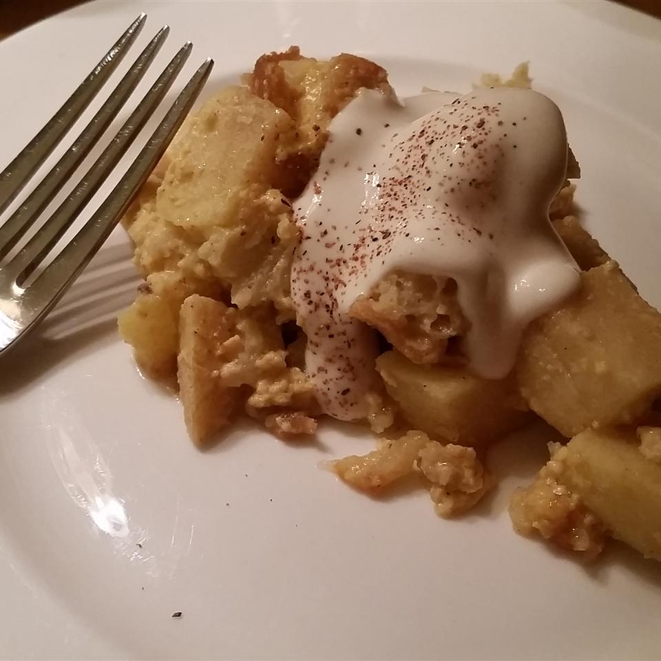 Eggnog and Apple Bread Pudding Eva