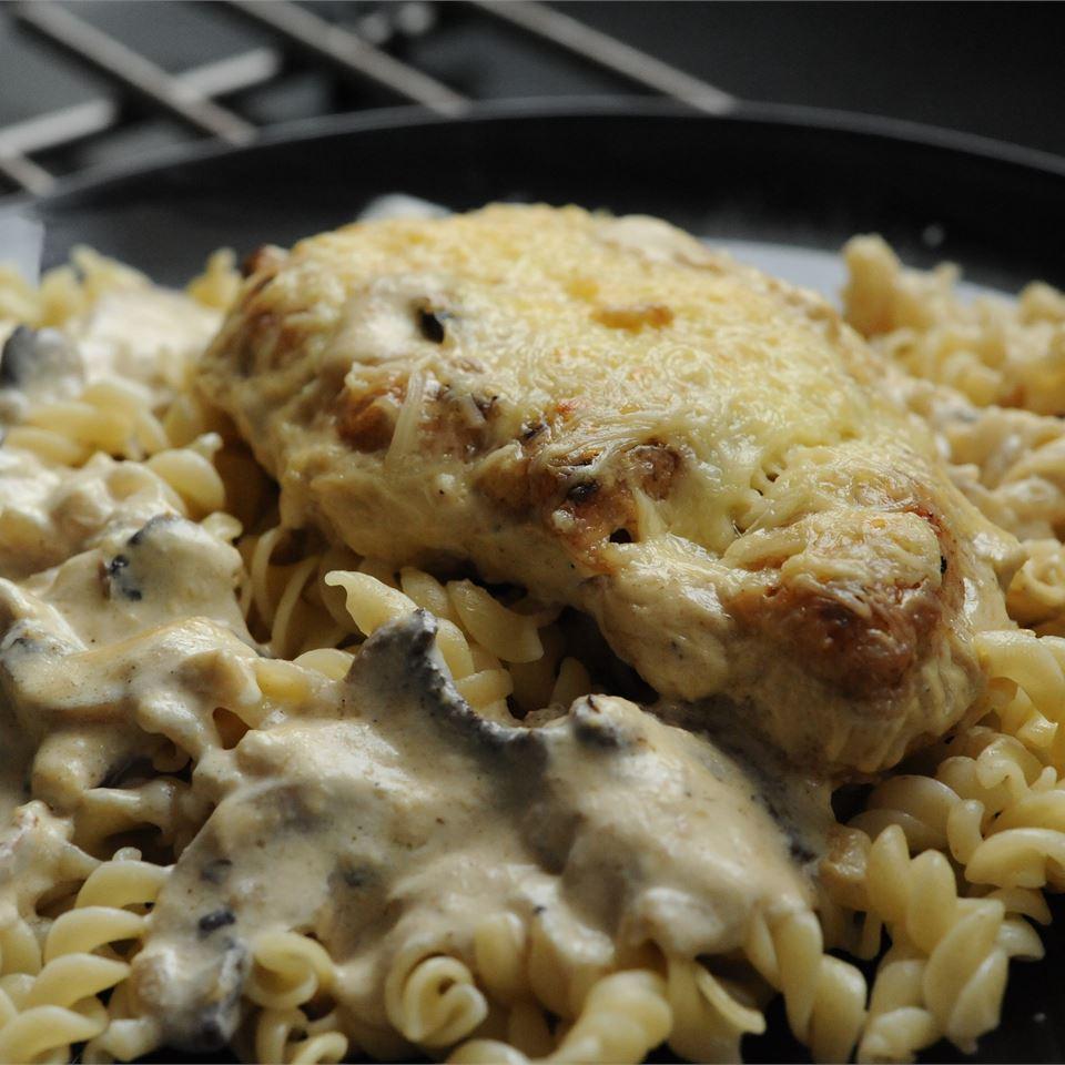 Chicken Gruyere with Sauteed Mushrooms