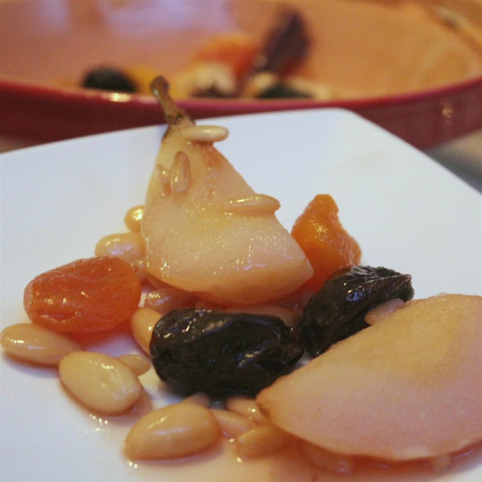 Pears and Dried Fruits in a Tagine Buckwheat Queen