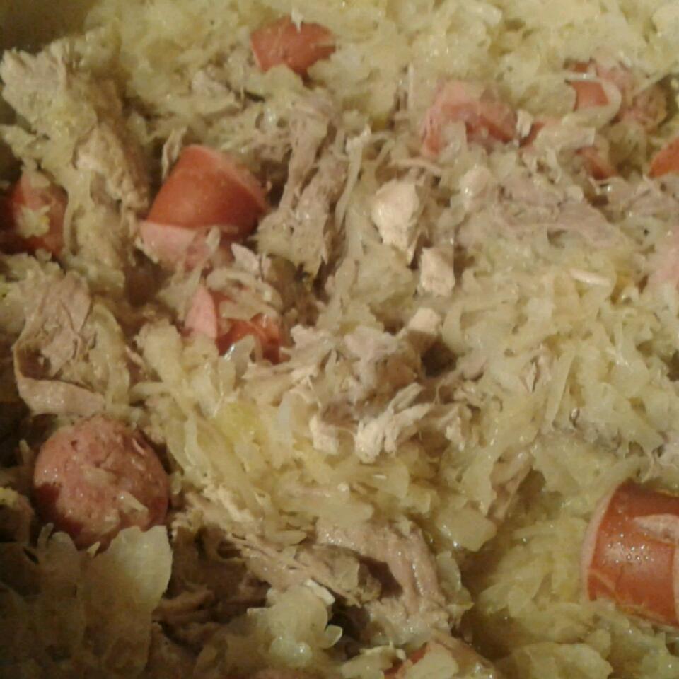 Pork Roast with Sauerkraut and Kielbasa