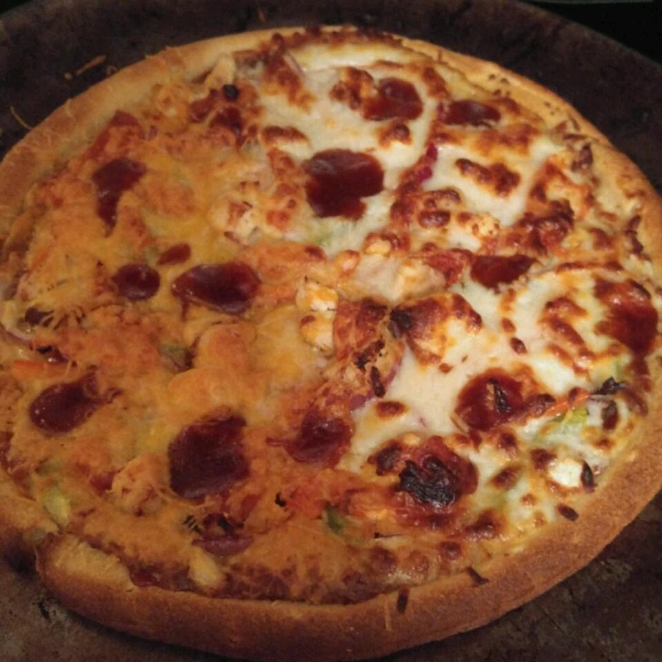 BBQ Chicken Pizza II PeanutsMom
