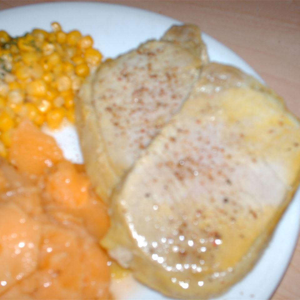 Pork Chops with Dill Pickle Marinade