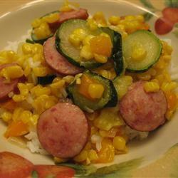 Fried Corn with Smoked Sausage ekp333