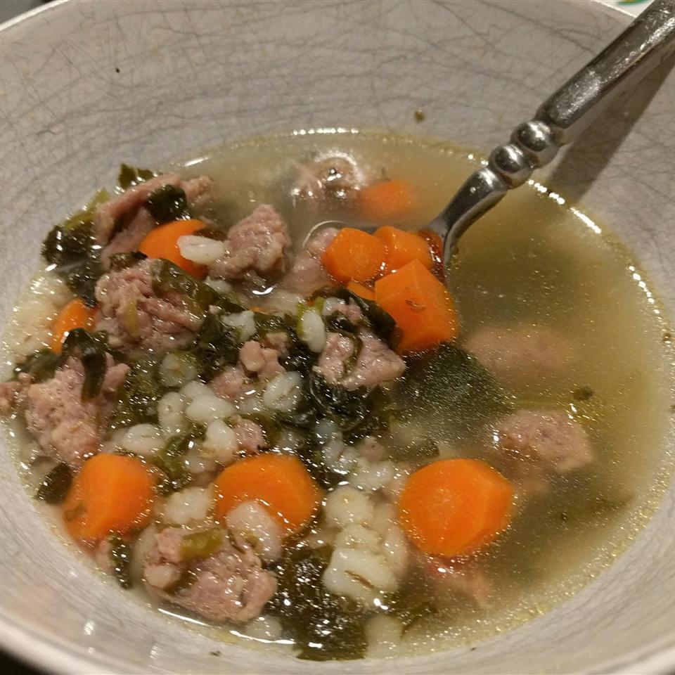 Sausage Barley Soup