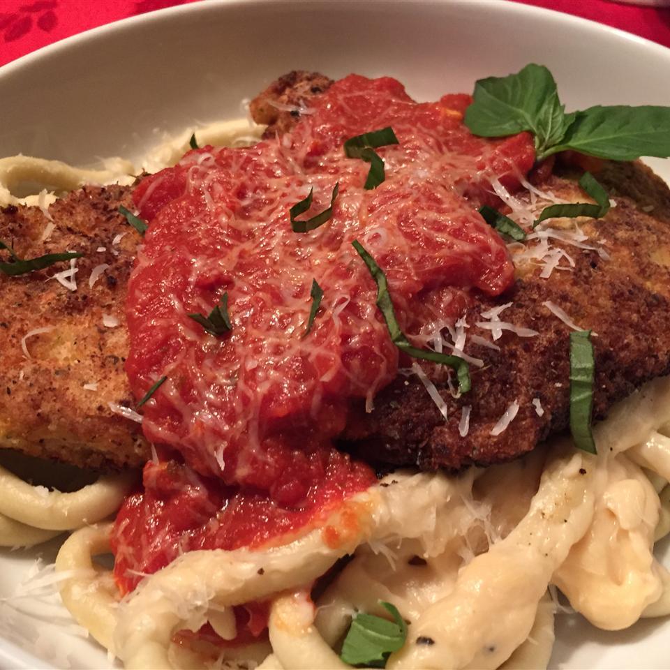 Parmesan Chicken Pasta with Marinara