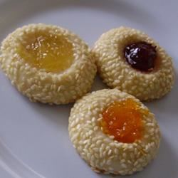 Sesame Thumbprint Cookies Christina