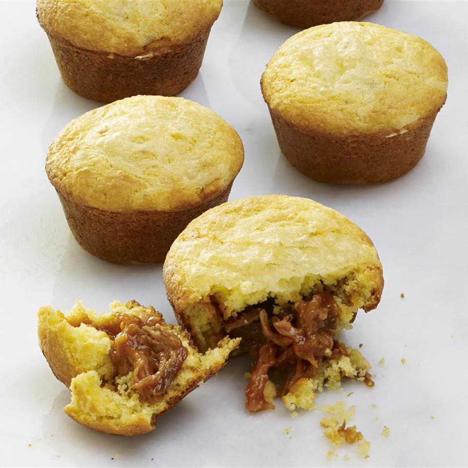 BBQ Pork-Stuffed Corn Muffins
