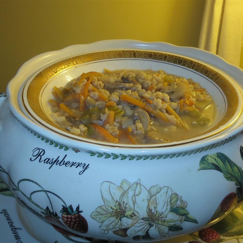 Very Easy Mushroom Barley Soup