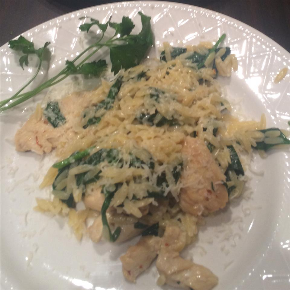Garlic Chicken with Orzo Noodles Kyle McNeal