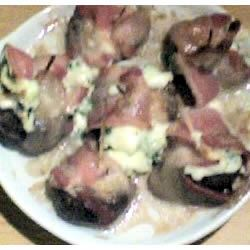 Bacon Wrapped Stuffed Mushrooms