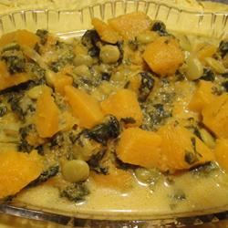 Pumpkin, Butter Bean, and Spinach Curry royalewcheese