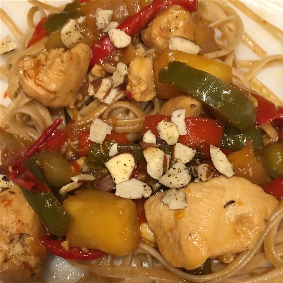 Stir-Fried Chicken With Pineapple and Peppers Chef