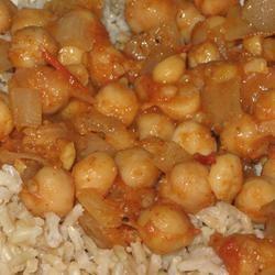 Pakistani Spicy Chickpeas