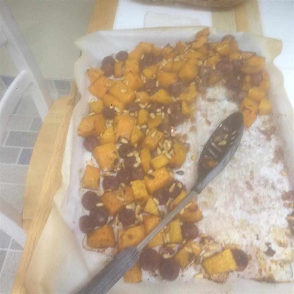 Butternut Squash with Grapes Priest cheff