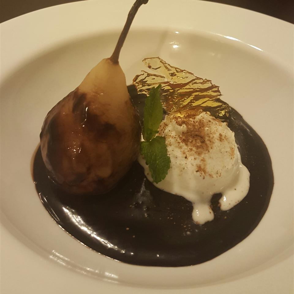 Poached Pears Belle Helene