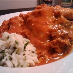 Chicken with Red Chile Sauce and Sausage (Pollo con Salsa Rojo y Chorizo) Sherbear1