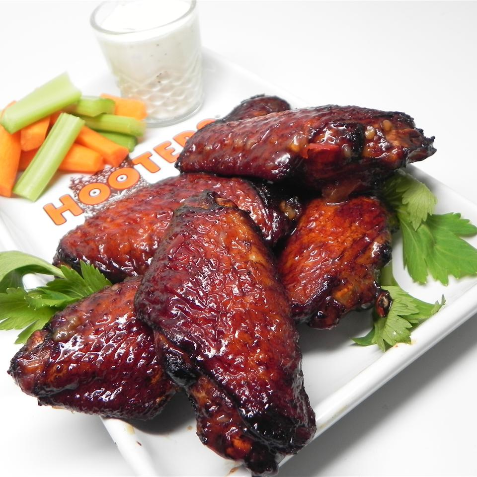 Spicy Tequila Sunrise Chicken Wings