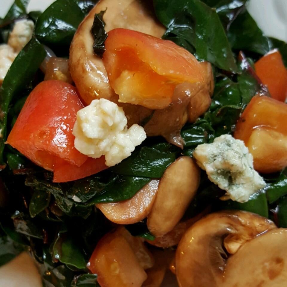 Warm Swiss Chard and Mushroom Salad