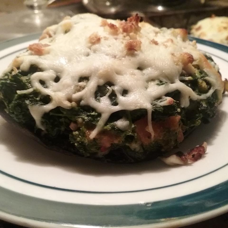 Spinach Stuffed Portobello Mushrooms fullofjoy4u