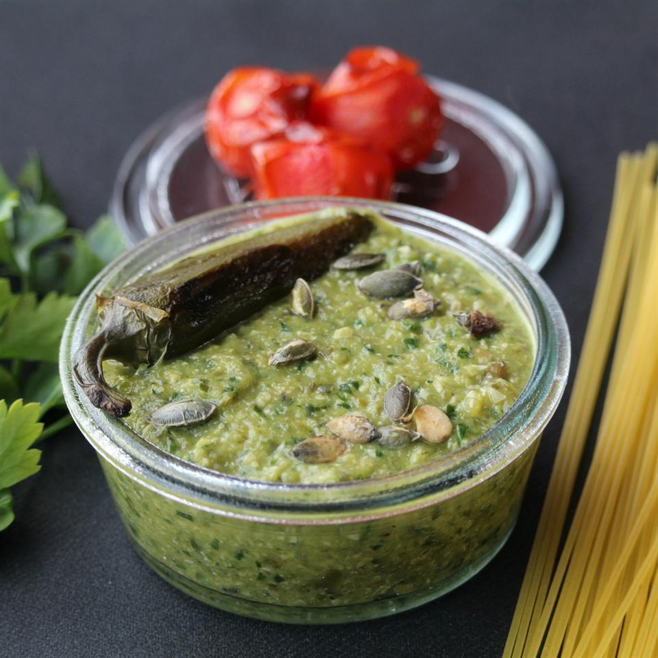 Pasta with Jalapeno Pesto