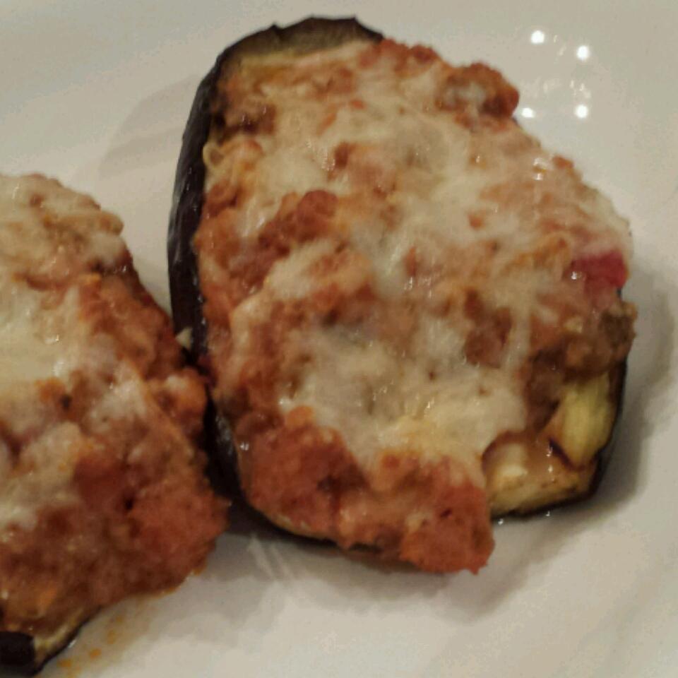 Sausage-Stuffed Eggplant Ana