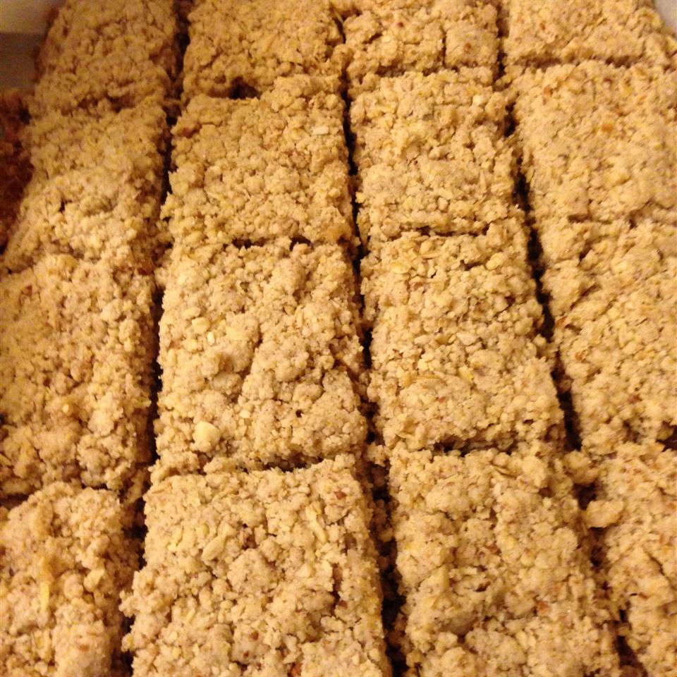 Nutty Oatmeal Apricot Squares Jny8077