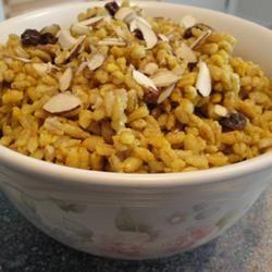 Indian Curried Barley Pilaf