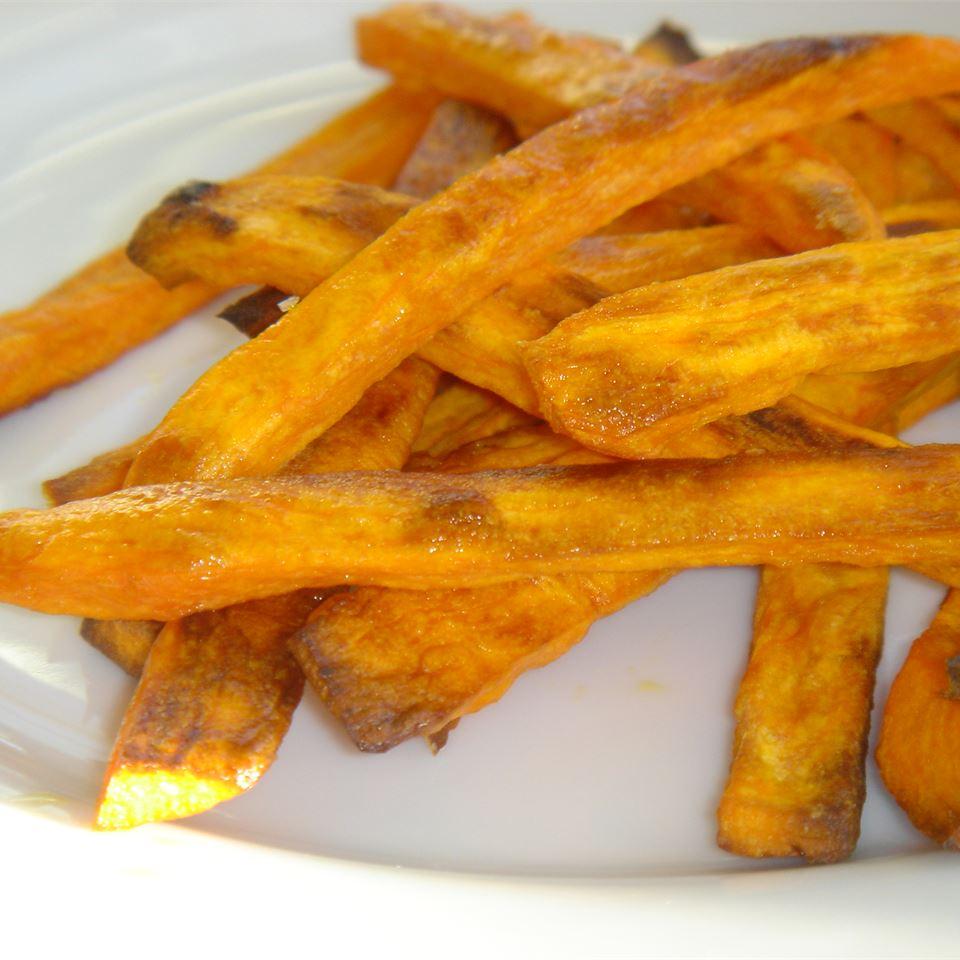 Spicy Baked Sweet Potato Fries MommyFromSeattle