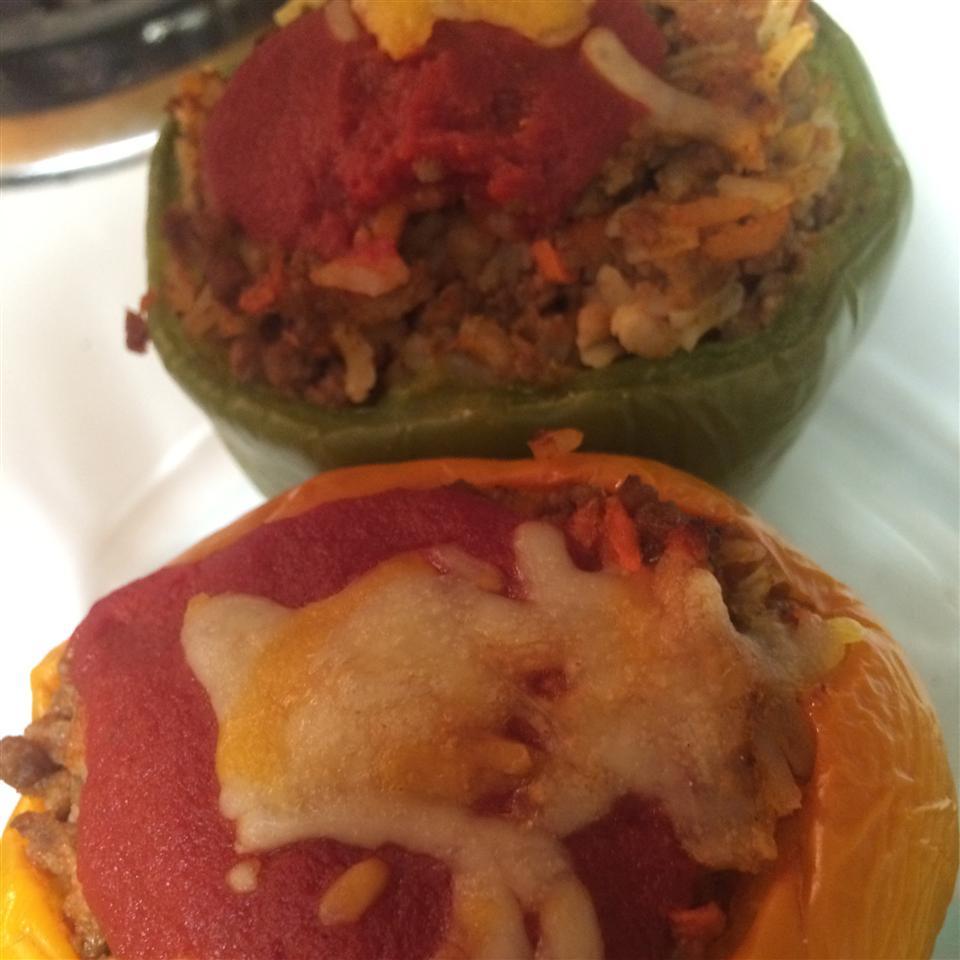 Stuffed Green Peppers Maribel Medina
