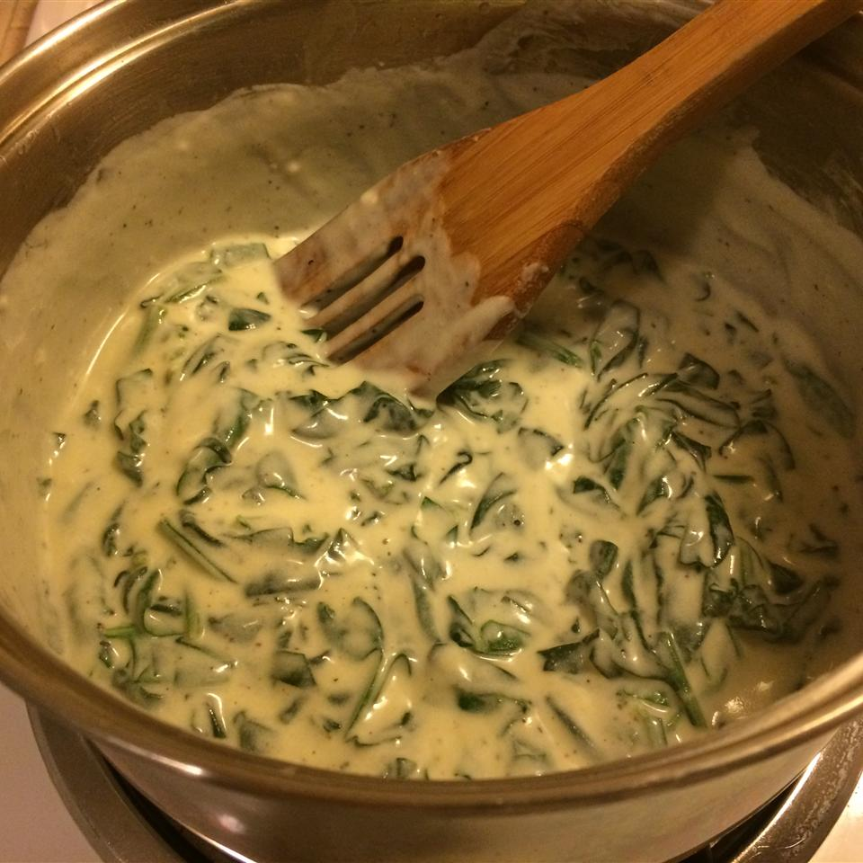 Creamed Spinach from Oikos® Christine Mariscal