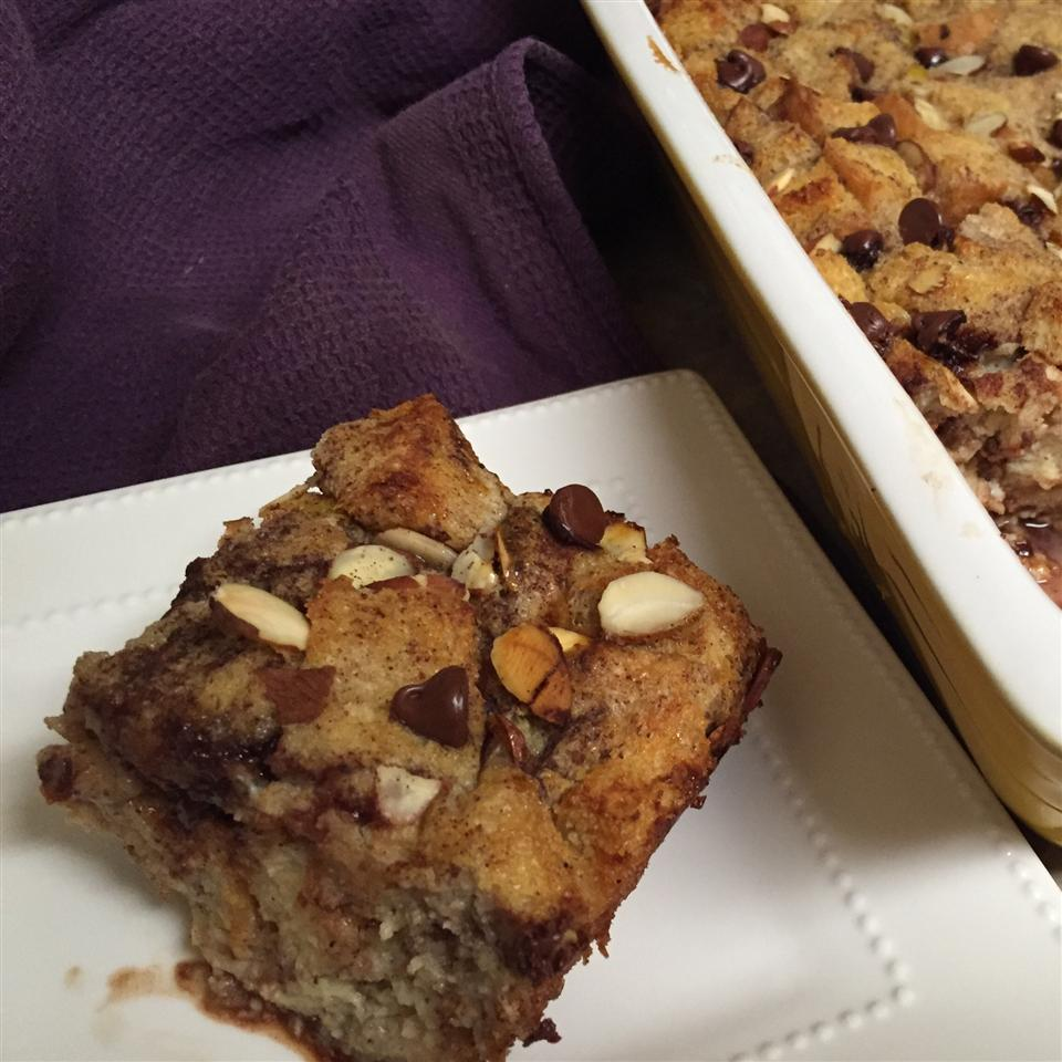 Chocolate Almond Bread Pudding thedailygourmet