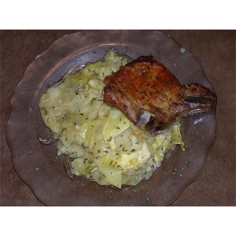 Pork Chop and Cabbage Casserole