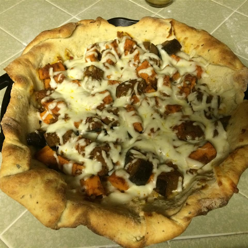 Sweet Potato and Curried Red Lentil Pizza FLAMINGOFLUFF