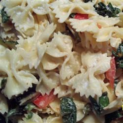 Fettuccini with Basil and Brie Brooke