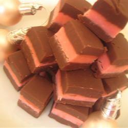 Layered Mint Chocolate Fudge