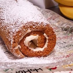 Pumpkin Roll with Ginger and Pecans emma