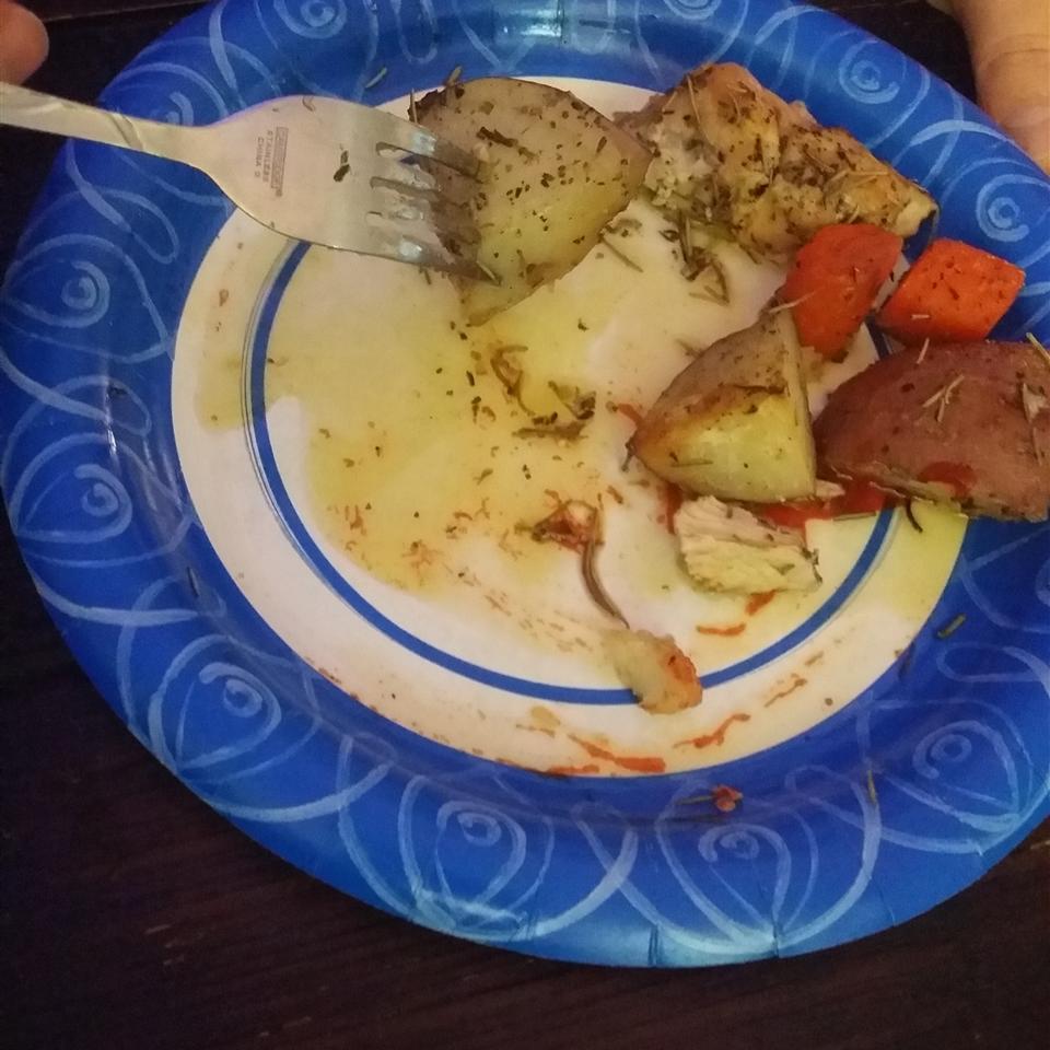 Crispy Rosemary Chicken and Fries