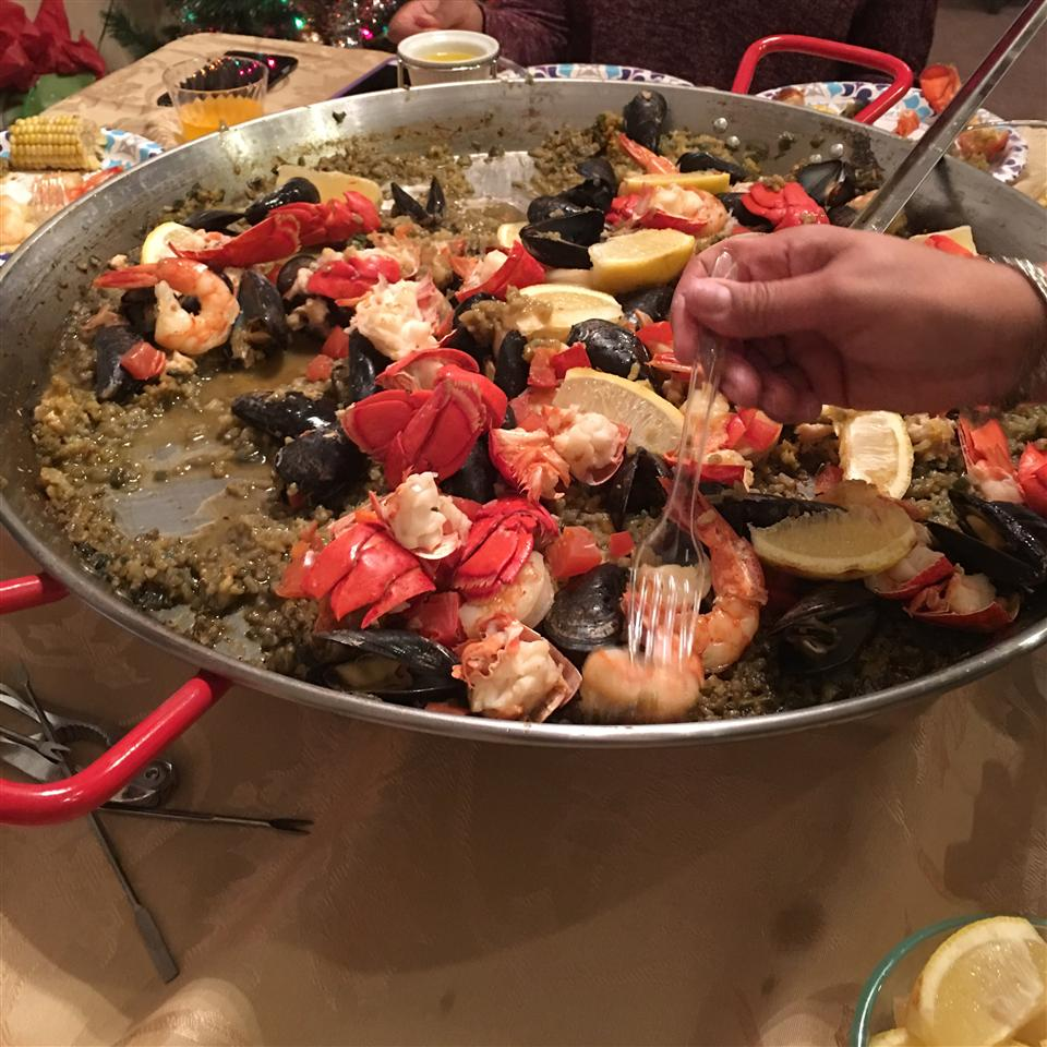 Saffron-Scented Lobster Paella DeeDee