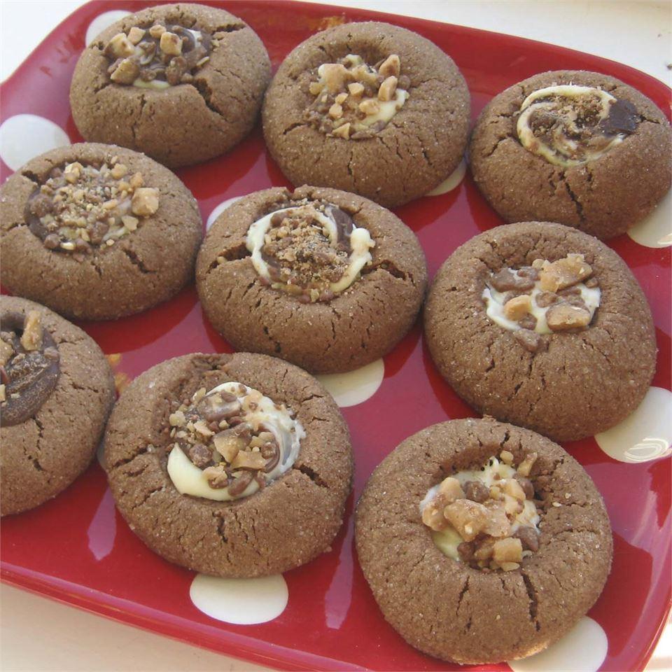 Santa's Chocolate Thumbprint Cookies Sallie