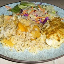 Curried Chicken with Mango Rice Shawn
