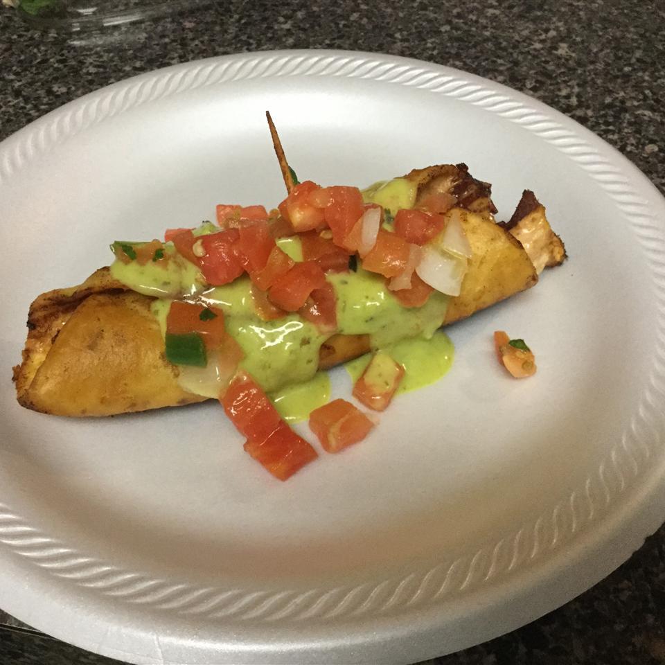 Spicy Alfredo Chicken Bacon Taquitos