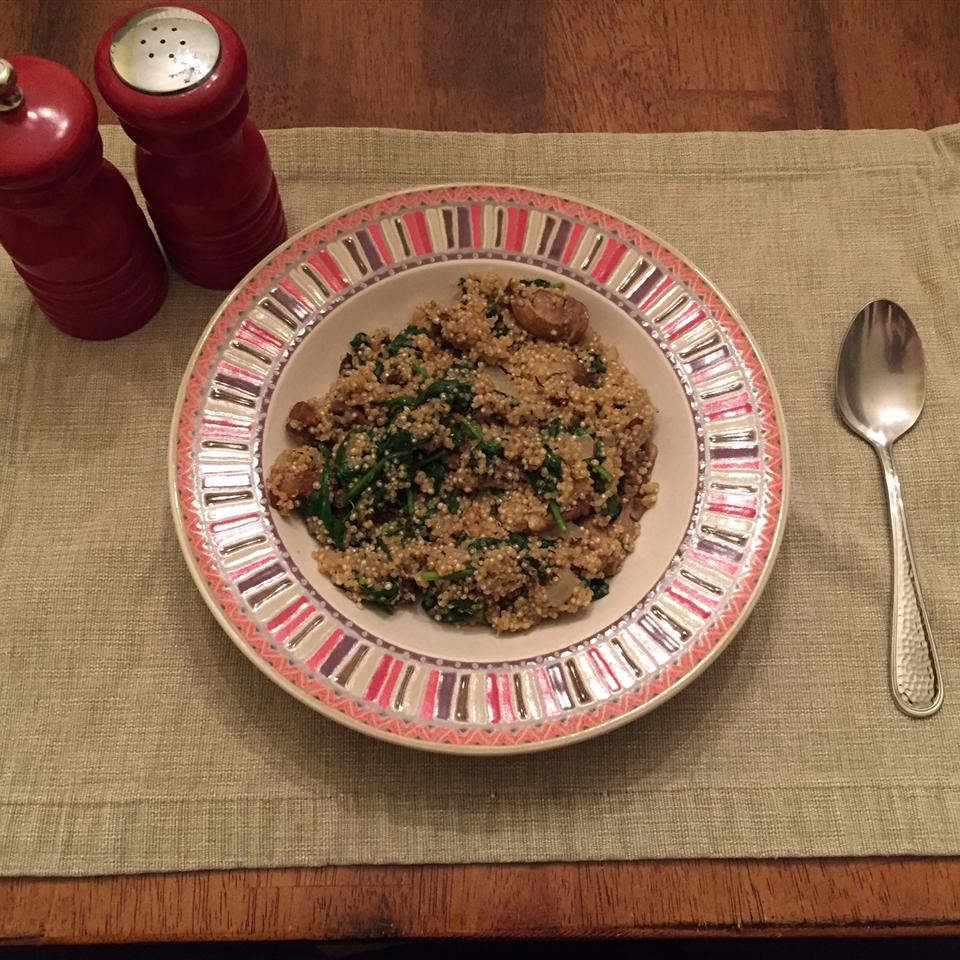 Robin's Quinoa with Mushrooms and Spinach James Luginbyhl