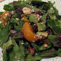 Cranberry, Glazed Walnut, Orange, Avocado, and Blue Cheese Salad Joy Boston