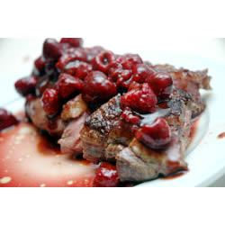 Duck Breasts with Raspberry Sauce bhague