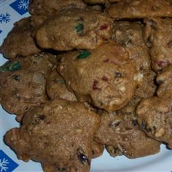 Delicious Whole Wheat Fruitcake Cookies MOTHEROFLITTLE