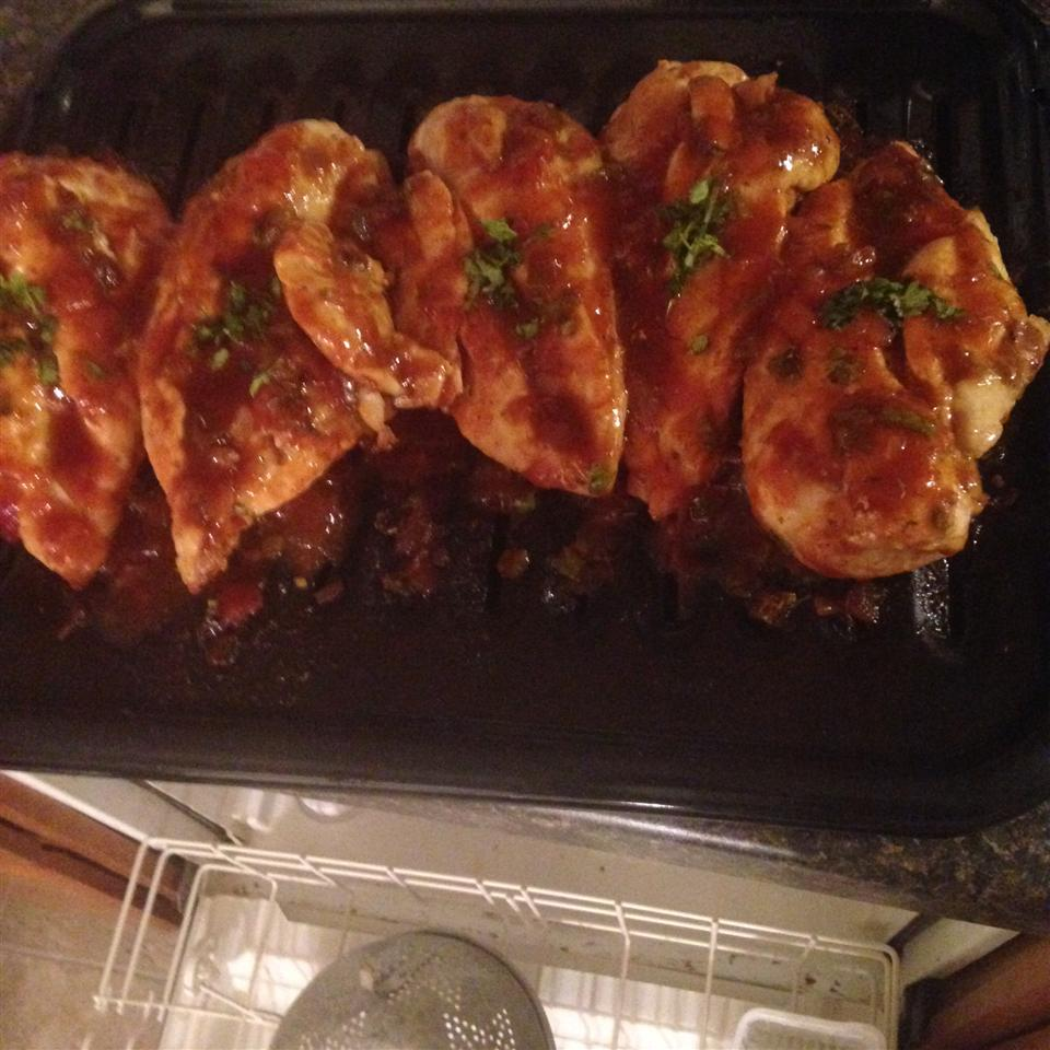 Grilled Chicken with Salsa Barbecue Sauce Luna